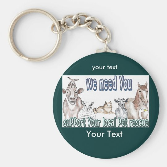 Customizable keychains-Pet Rescue Keychain