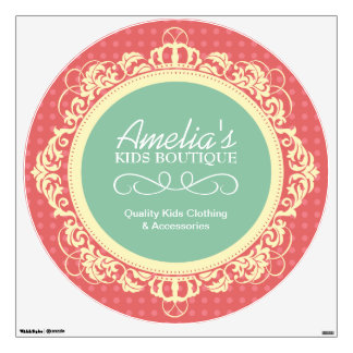 Customizable Kids Boutique Wall Decal