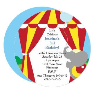 Customizable Kids Circus Birthday Party Card