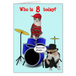 Customizable Kid's Drum Roll Birthday Card