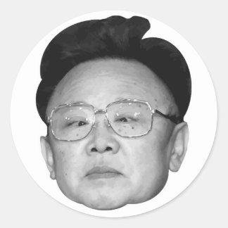 Customizable Kim Jong Il Round Stickers