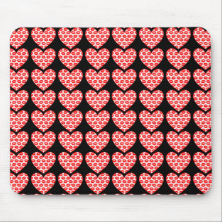 Customizable Kissy Lips Hearts Mouse Pad