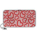 Customizable Kissy Lips Hearts Portable Speakers