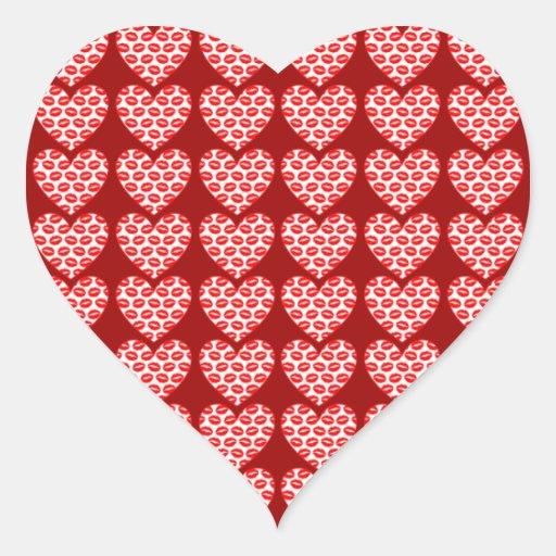 Customizable Kissy Lips Hearts Sticker