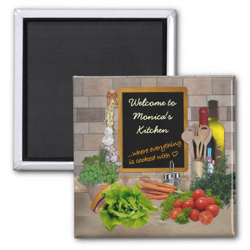 Customizable Kitchen 2 Inch Square Magnet