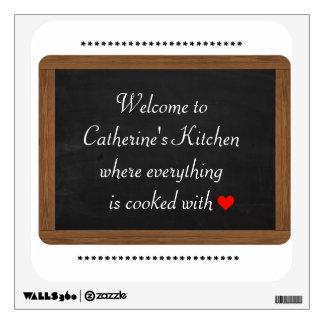 Customizable Kitchen Chalkboard Decal