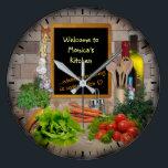 "(Customizable) Kitchen Clock<br><div class=""desc"">Please insert your name!</div>"