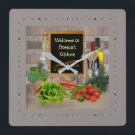 "(Customizable) Kitchen Clock with your Name<br><div class=""desc"">Please insert your name!</div>"