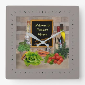 (Customizable) Kitchen Clock with your Name