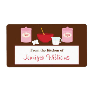 from the kitchen of labels zazzle