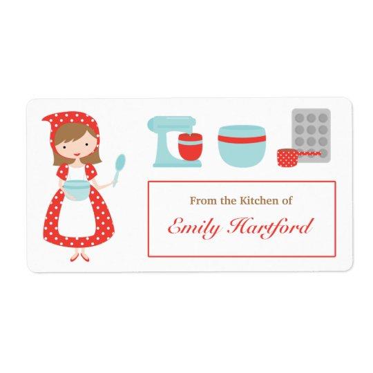 Customizable Kitchen Labels