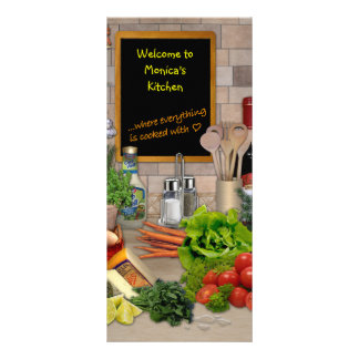 Customizable Kitchen Menu Custom Rack Card