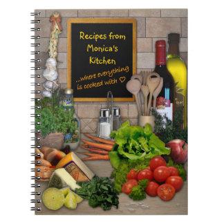 Customizable Kitchen Spiral Notebook