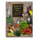 Customizable Kitchen Spiral Notebooks
