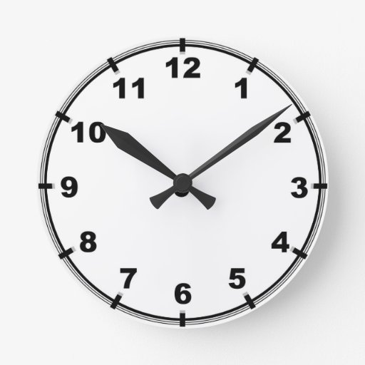 Customizable Kitchen Wall Clock With Numbers Zazzle
