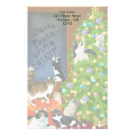 Customizable Kitty Cat Christmas Stationery