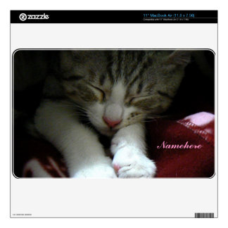 Customizable: Kitty sleeps MacBook Air Skin