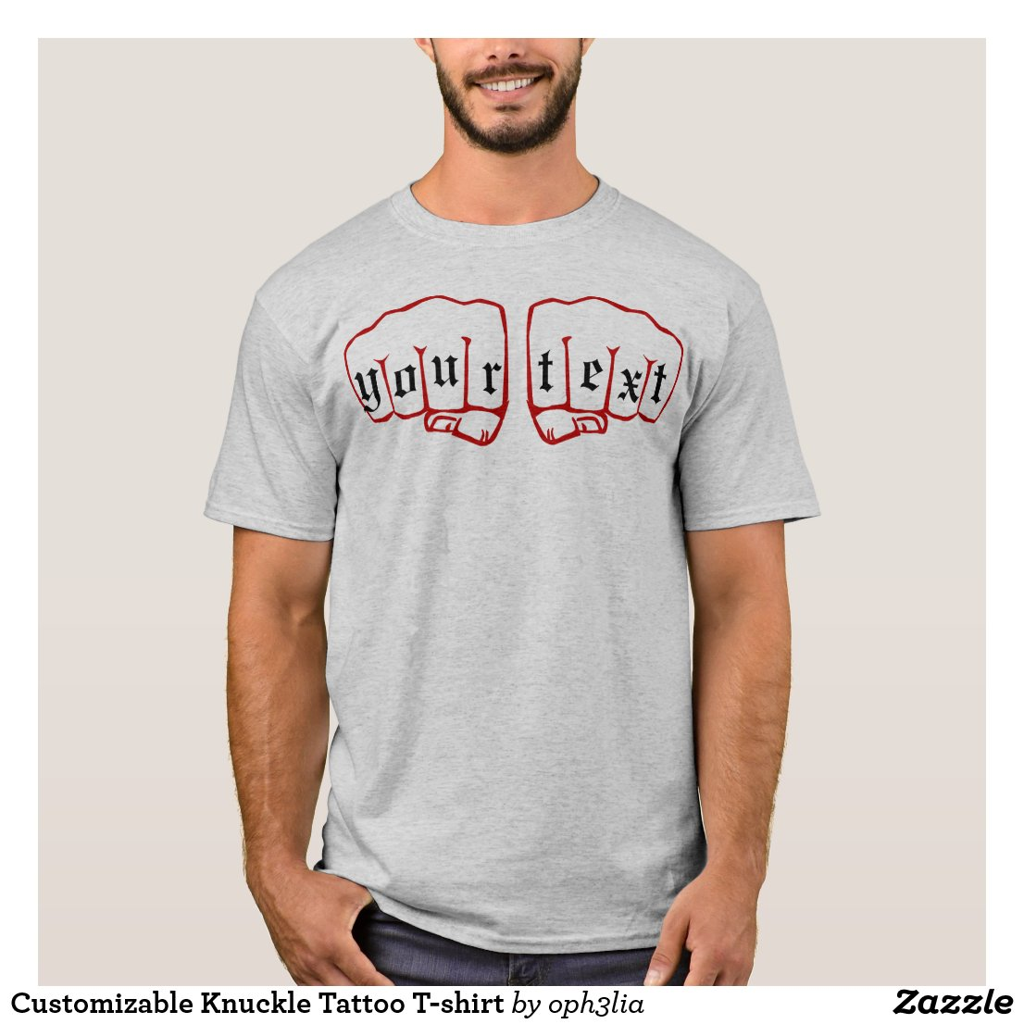 Customizable Knuckle Tattoo T-shirt