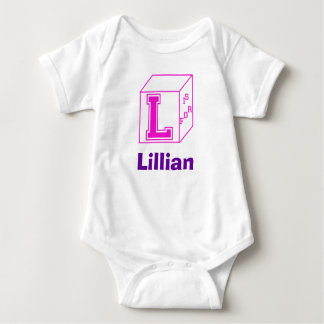 """Customizable """"L Is For..."""" Baby Creeper"""