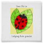 Customizable Ladybug love forever poster