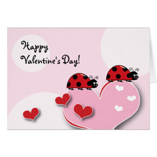 Customizable Ladybug Valentine Card