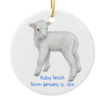 Customizable Lamb Ornament