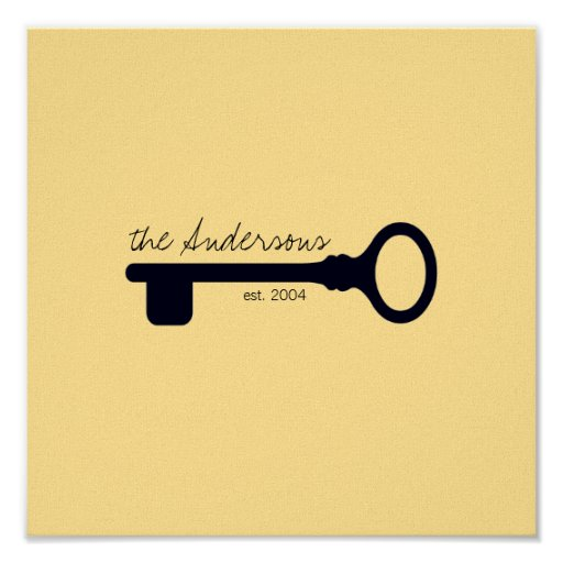 Customizable Last Name & Anniversary Canvas Print
