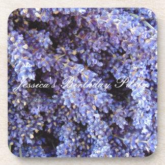 Customizable Lavender Drink Coaster