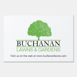 Customizable Lawn Care Yard Sign
