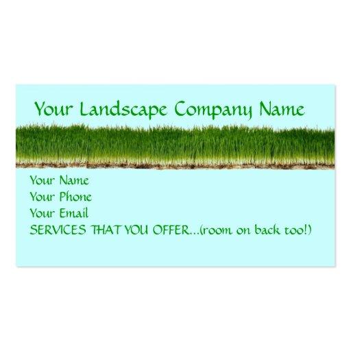 Customizable Lawn Landscape pany Business Card