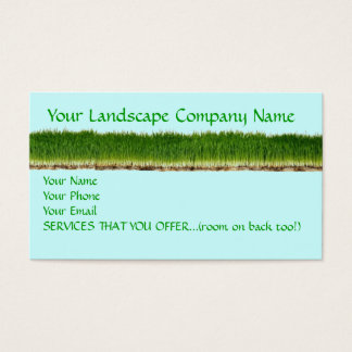 Customizable Lawn Landscape Company Business Card