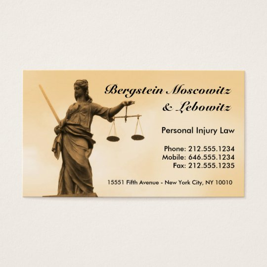 CUSTOMIZABLE Lawyer BC Business Card