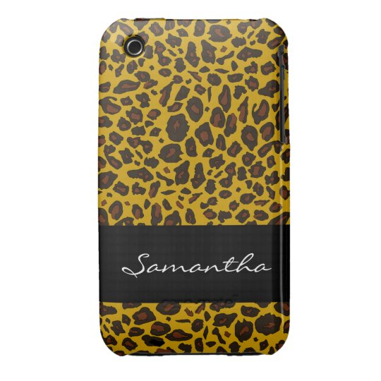 Customizable Leopard Animal Print iPhone 3 Case-Mate Case