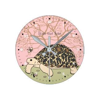Customizable Leopard Tortoise Clock