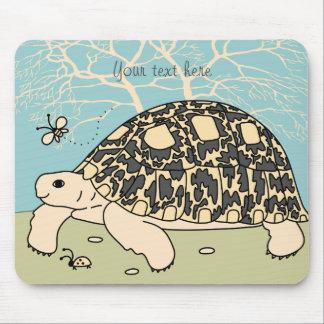 Customizable Leopard Tortoise Mouse Pad