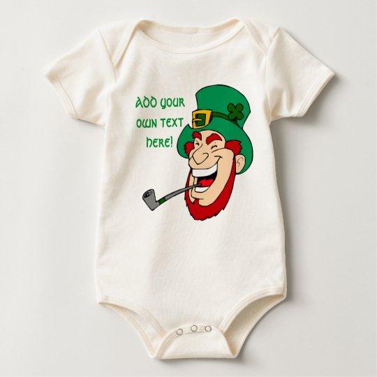 Customizable Leprechaun Baby Bodysuit