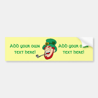 Customizable Leprechaun Car Bumper Sticker