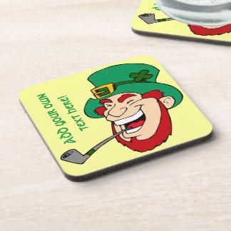 Customizable Leprechaun Coasters