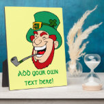 Customizable Leprechaun Display Plaque