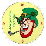 Customizable Leprechaun Wall Clocks
