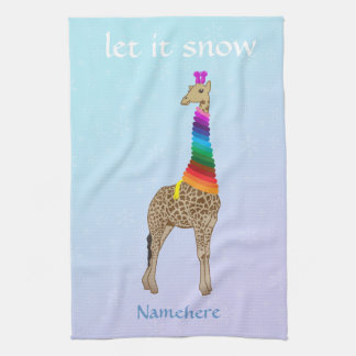 Customizable Let it snow Hand Towels