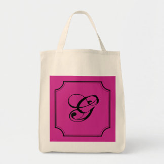 Customizable Letter Square Cut Corners Bag