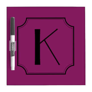 Customizable Letter Square Cut Corners Dry Erase Whiteboards
