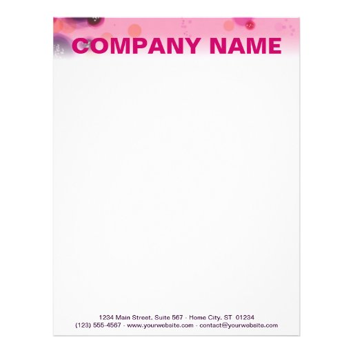 Customizable Letterhead - Berry Stains