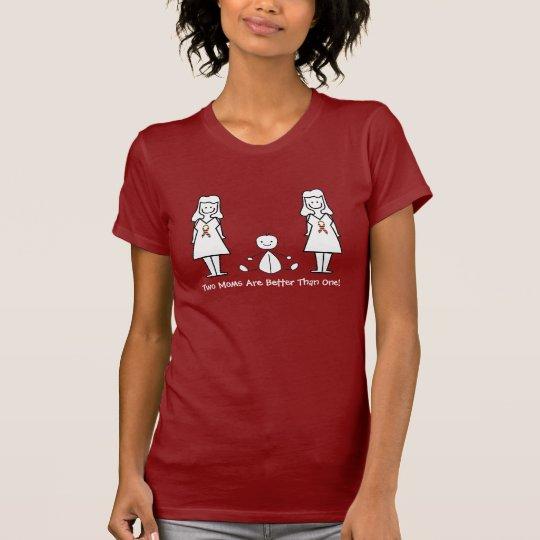 Customizable LGBT 2 Moms & Baby T-Shirt