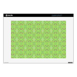 "Customizable Light Lime Green Background 15"" Laptop Skins"