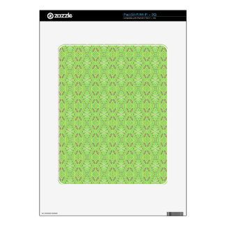 Customizable Light Lime Green Background Decals For The iPad