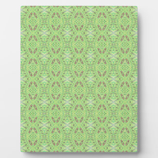 Customizable Light Lime Green Background Plaque