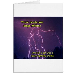 Customizable Lightning Strike Merchandise Card