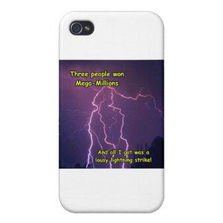 Customizable Lightning Strike Merchandise iPhone 4/4S Covers